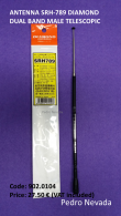 ANTENNA SRH-789 DIAMOND  DUAL BAND  MALE TELESCOPIC - Pedro Nevada