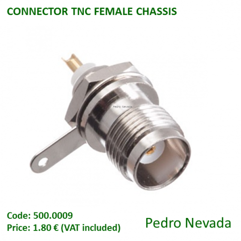 CONNECTOR TNC FEMALE CHASSIS - Pedro Nevada