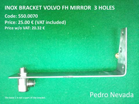INOX BRACKET VOLVO FH  3 HOLES  (NO. 6) - Pedro Nevada