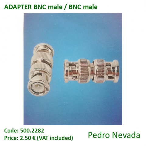 ADAPTER BNC MALE / BNC MALE - Pedro Nevada