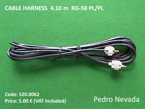 CABLE HARNESS  4.10 m  RG-58 PL/PL - Pedro Nevada