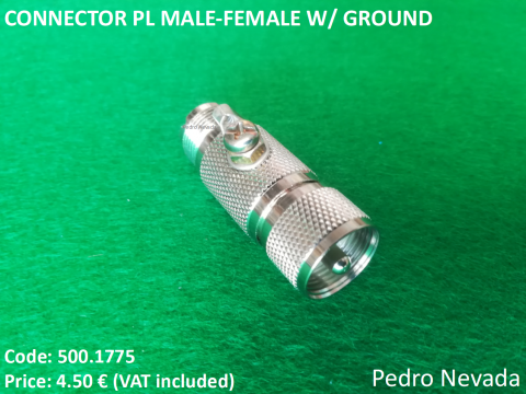 CONNECTOR PL MALE-FEMALE W/ GROUND - Pedro Nevada
