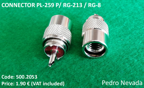 CONNECTOR PL-259 F/ RG-213 / RG-8 - Pedro Nevada