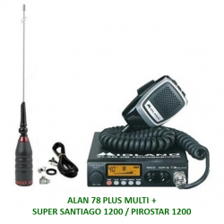 KIT ALAN 78 PLUS MULTI + ANTENA SUPER SANTIAGO 1200